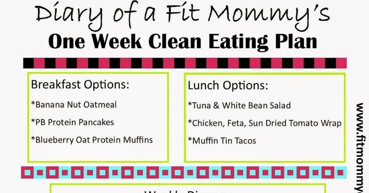 Diary of a Fit Mommy: Diary of a Fit Mommy's 7 Day Clean Eating Plan