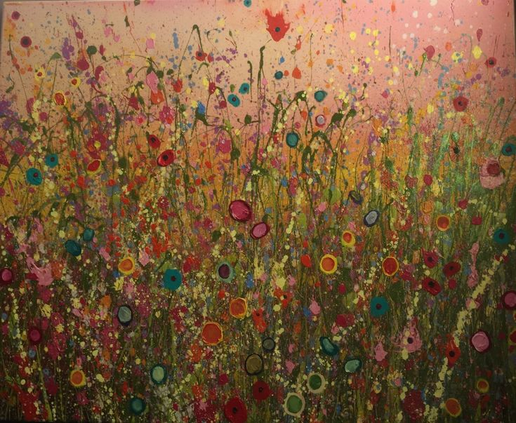 Original Artwork - Breathe The Wild by UK Flower Artist Yvonne Coomber