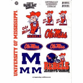 University Of Mississippi 'Ol Miss Sticker Full Pa Case Pack 48