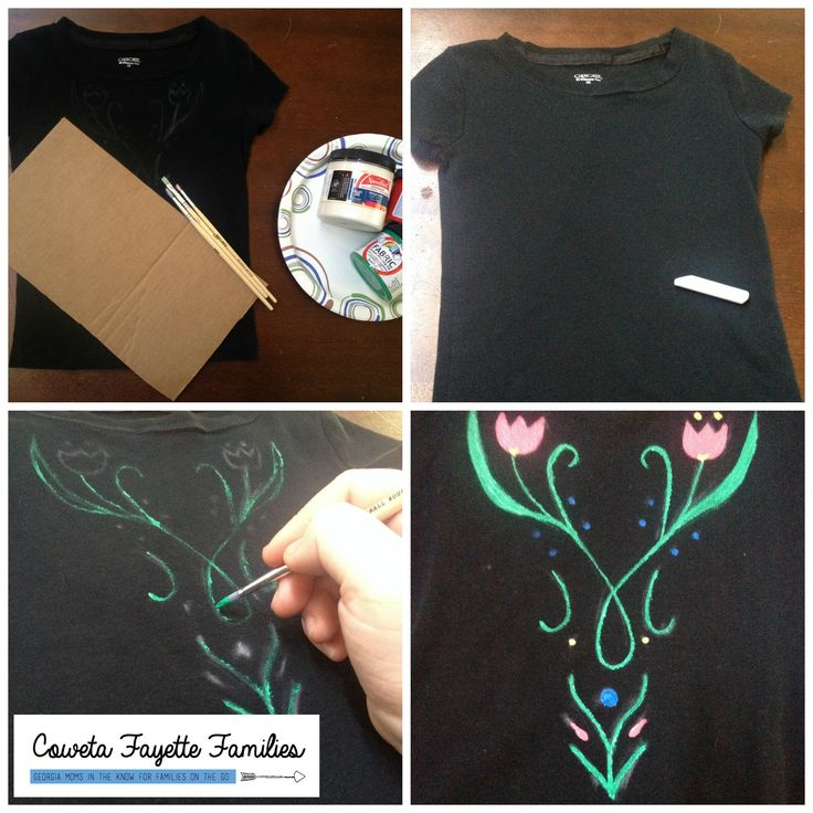 ANNA Costume T-SHIRT Painting tutorial