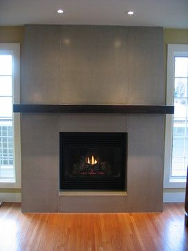 Concrete Fireplace - contemporary - fireplaces - calgary - Sculptural Design Inc.