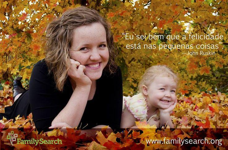 """""""Eu sei bem que a felicidade está nas pequenas coisas."""" —John Ruskin Que coisa pequena fez você feliz recentemente? #CompartilheSuaFelicidade no grupo Facebook da Área Brasil em http://on.fb.me/1IE7B11"""