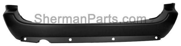 2005-2007 Chrysler Town & Country Rear Bumper Cover W/ Stow&Go Seats W/O Chrome Molding W/ Driver Side Exhaust Opening W/ Sensors 119 Inches.(Extended) Wheelbase Grand Caravan/Town&Country 05-07
