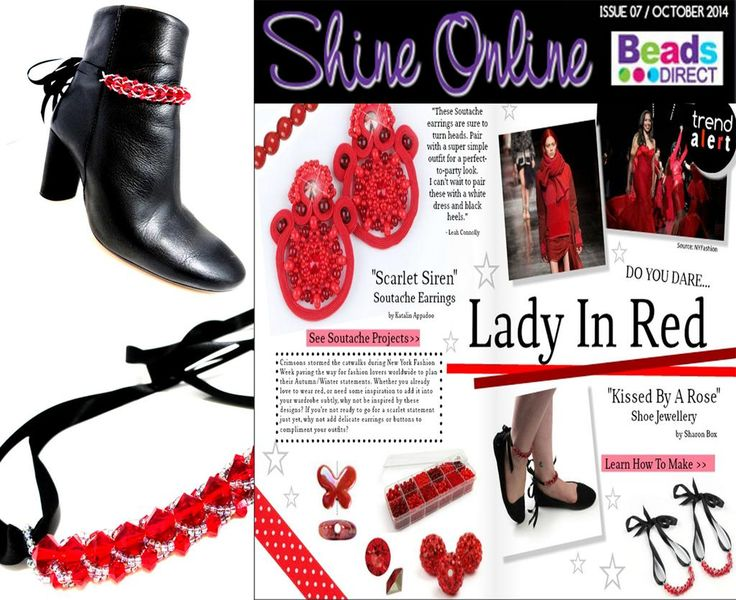 Press coverage Beads Direct Shine Online Magazine, Oct 2014 edition.
