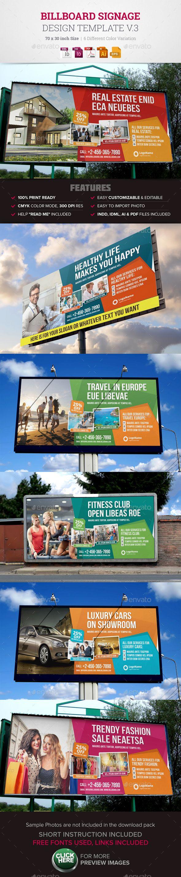 Billboard Signage Design Template. Download: http://graphicriver.net/item/billboard-signage-design-v3/14503833?ref=ksioks