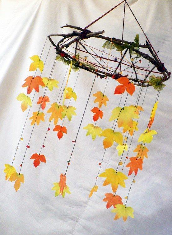 barevná listová zvonkohra
