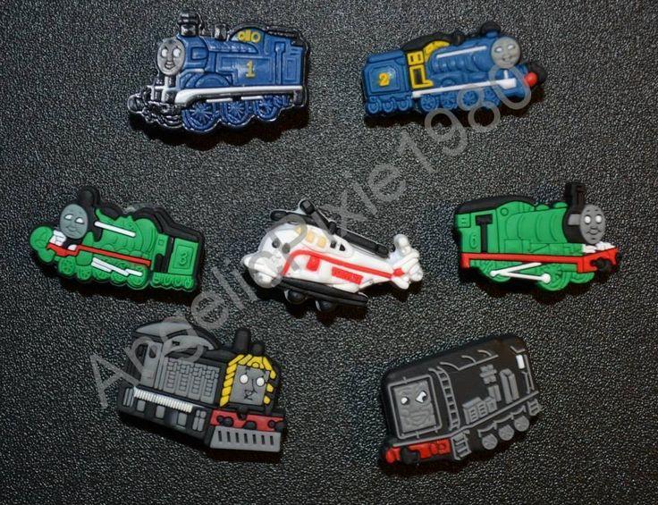 7pc Thomas and Friends Jibbitz Charms Fits Wristbands & Crocs USA SELLER #JibbitzCrocs