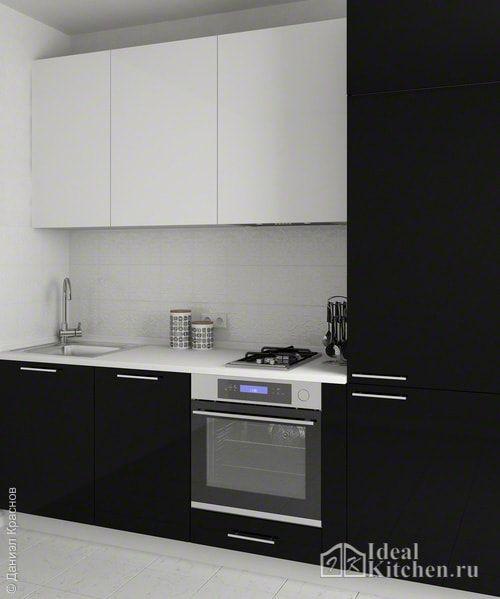 кухни черно белые дизайн фото 2