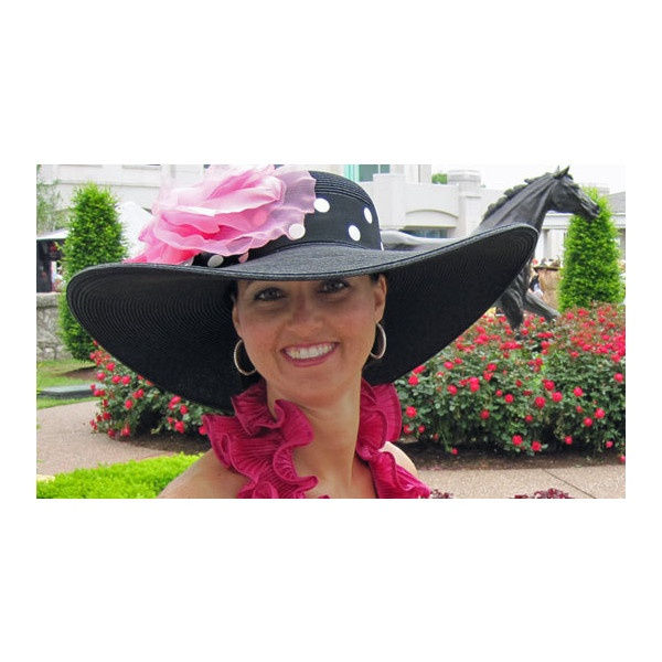 Hat-A-Tude Kentucky Derby Hats, Womens Hats, Ladies Hats, Dressy Hats, Church Hats, Wedding, Straw found on Polyvore