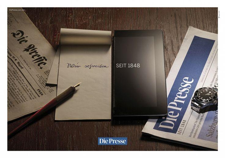 Die Presse: Wir schreiben seit 1848. #Advertising #Notepad #iPad