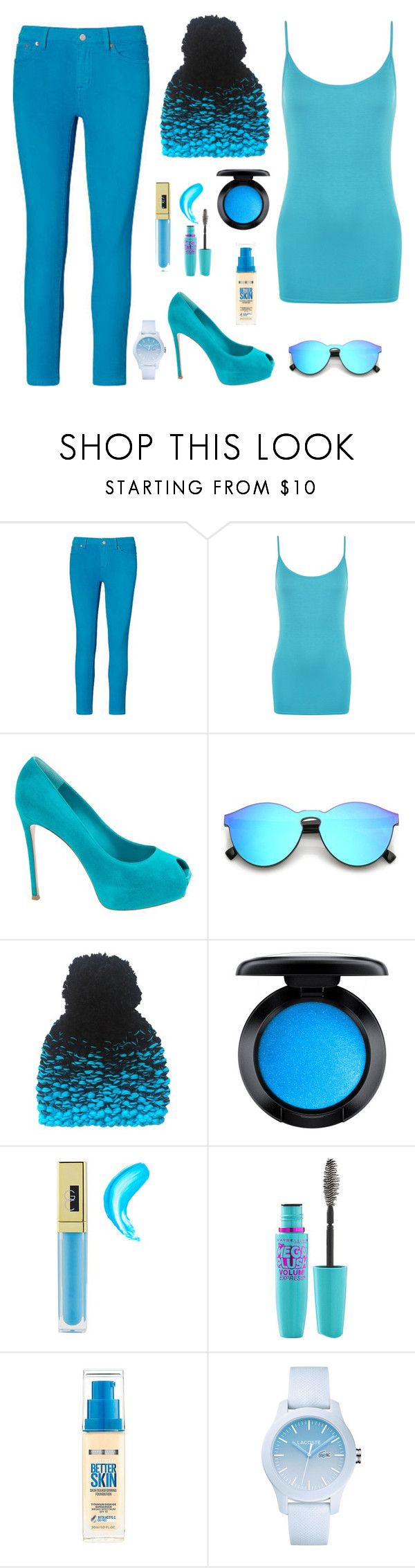 """""""blue moon"""" by annie2550 ❤ liked on Polyvore featuring Ralph Lauren, WearAll, Gianvito Rossi, YM by Yakshi Malhotra, MAC Cosmetics, Gerard Cosmetics, Volum, Maybelline and Lacoste"""