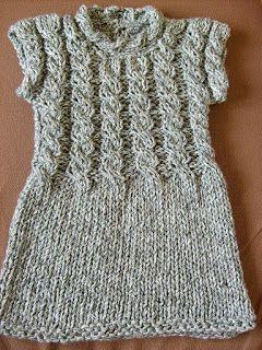 """Tejer: """"El arte de crear con tus manos"""".: Mini vestido a palillo para mujer talla M"""