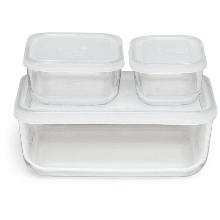 Bormioli Rocco Frigoverre Rectangle Food Storage Containers