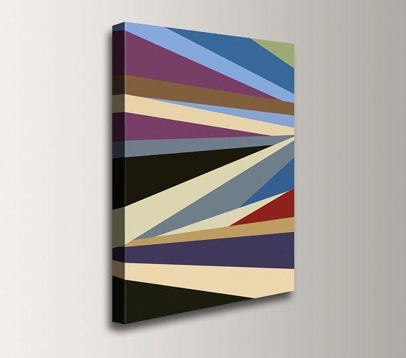 Colorful Art Canvas Print Geometric Art di TheModernArtShop, $79.00