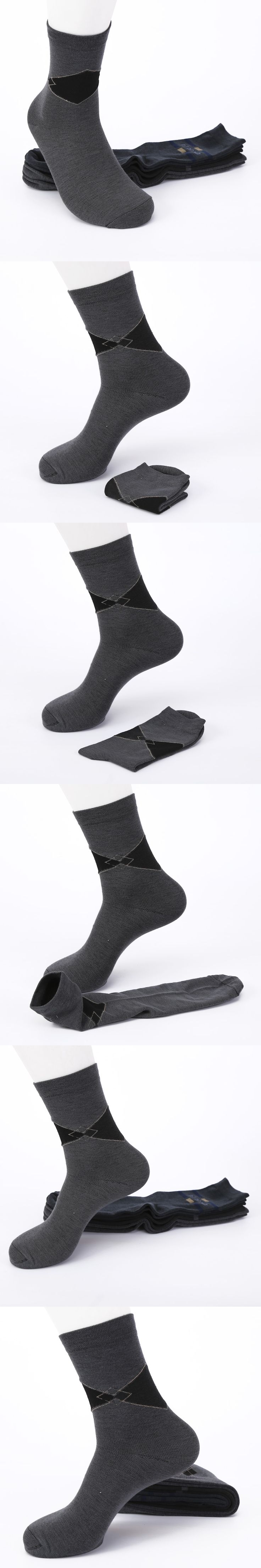 Mens Business Socks High Quality Polyester Casual Hot Sale Long Male Anti-Bacterial Socks For Men meias masculinas 2017 New #012