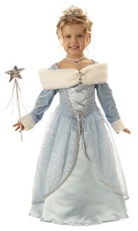 just throwing the idea out there for the girls!  Girls and Toddler Little Snowflake Princess Costume - Princess Costumes