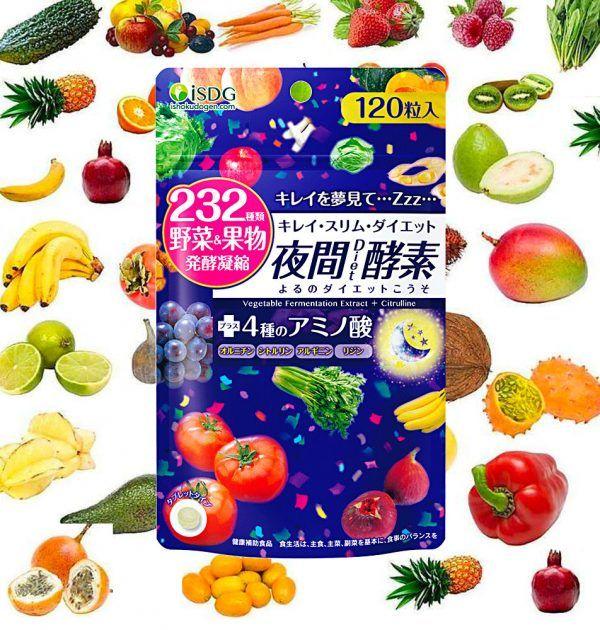 Ishokudogen Isdg 232 Night Diet Enzyme Supplement 120 Tablets Made In Japan Takaski Com Enzymes Supplements Diet Supplements Overeat