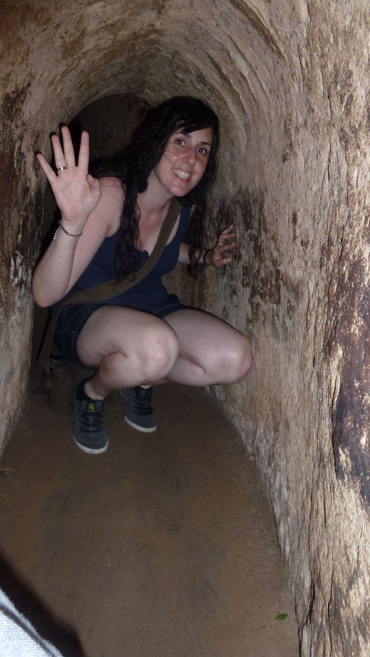 Dentro de los Túneles de Cu Chi (Cerca de Ho Chi Minh).-Fotografía:Rebeca Pizarro