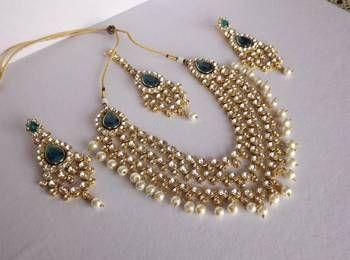 Haar Style Kundan & Pearl Necklace Set