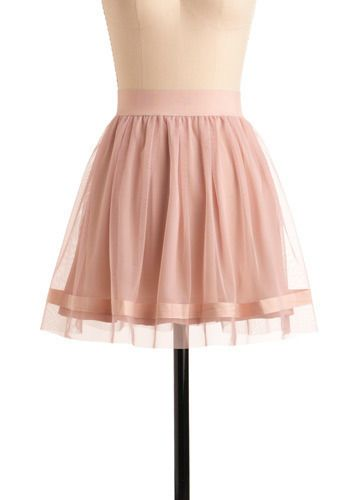 Pas de Trois Skirt. As you effortlessly float between your best friend and your special someone at the soiree, both parties are equally smitten with your ethereal and enigmatic style, courtesy of this feminine dusty pink skirt by BB Dakota. #pink #modcloth