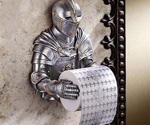 Knight Toilet Paper Holder….I dunno. I like nerdy stuff like this. xD