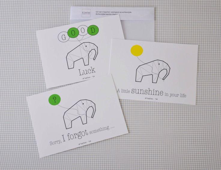 Een persoonlijke favoriet uit mijn Etsy shop https://www.etsy.com/nl/listing/201155291/3-vrolijke-stijlvolle-kaarten-voor