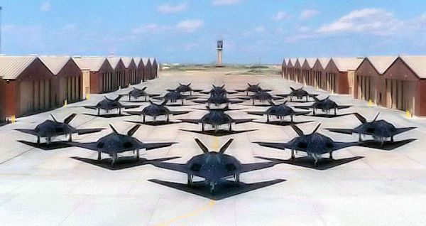f 117 stealth fighters tonopah photo - Top Secret Tombs: The Classified Stealth Aircraft Burial Grounds of Area 51