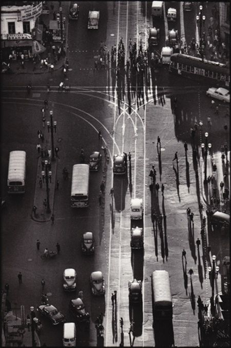 Rene Burri - Brazil, Sau Paulo 1960. A view from above.