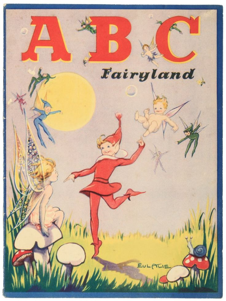 vintage kids book books abcs children s folk fairies