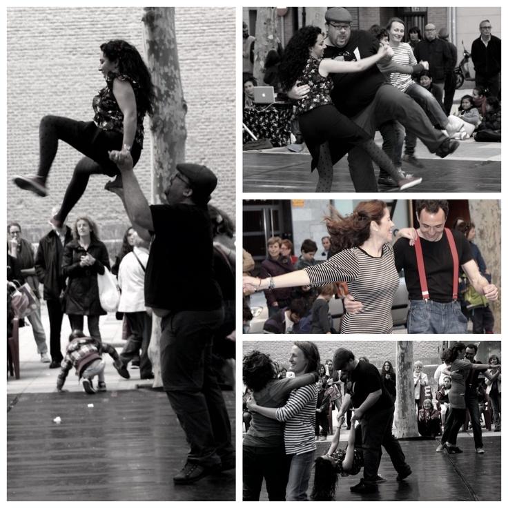 Street photo Zaragoza - Dancing Lindy Hop #street #lindyhop #swingzaragoza #Zaraswing #Swing