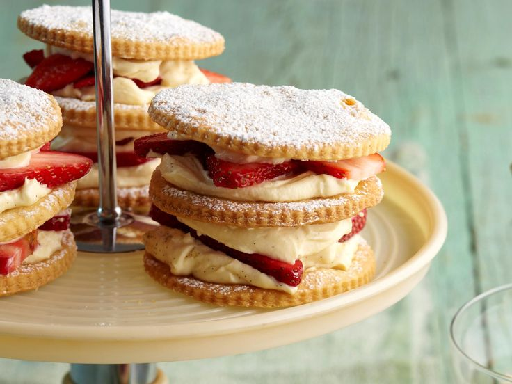 It's the winning dessert duo you just can't resist: strawberries and cream. Sandwiched between delightful shortcake biscuits it's a treat that will impress everyone, even your grandmother.
