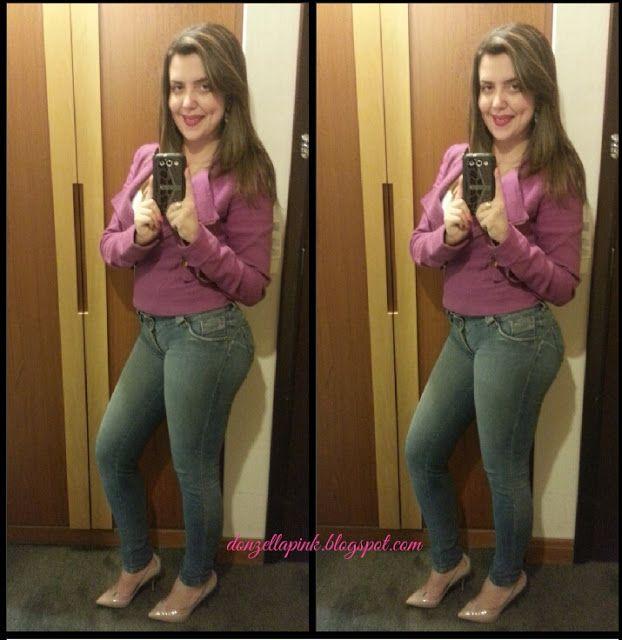 Look do dia: jaqueta roxa e scarpin nude