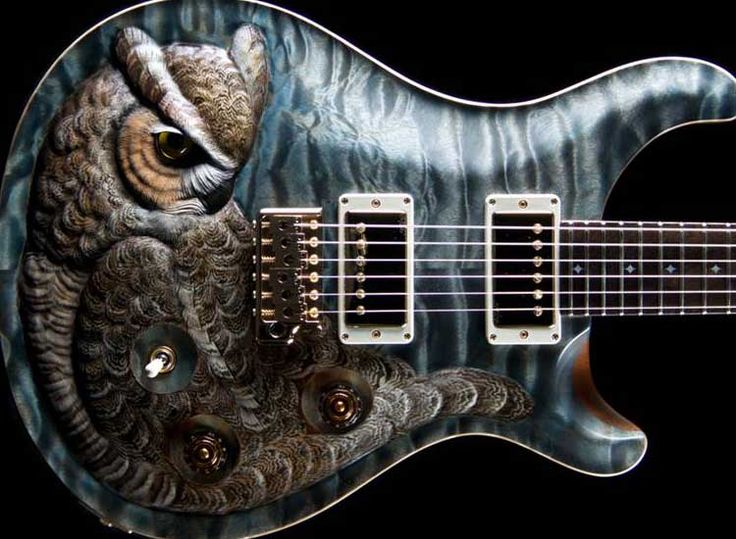 PRS Guitars (Private Stock) - Great Horned Owl Limited Run - Carving by Floyd Scholz