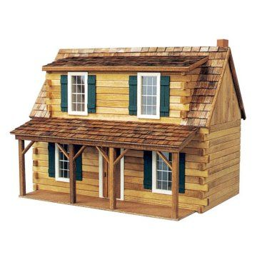 Real Good Toys Adirondack Cabin Kit  - 1 Inch Scale