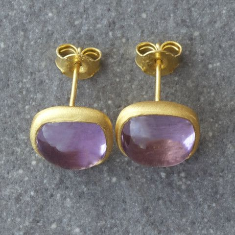 Plaza Amethyst Earrings