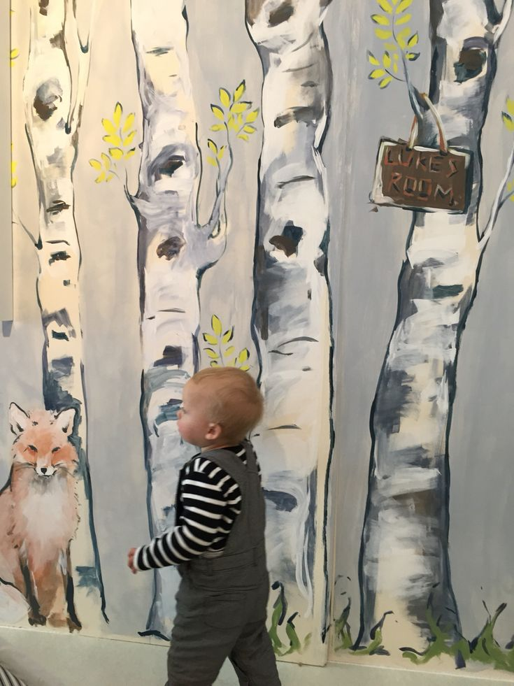 Best 25 forest mural ideas only on pinterest for Boys wall mural