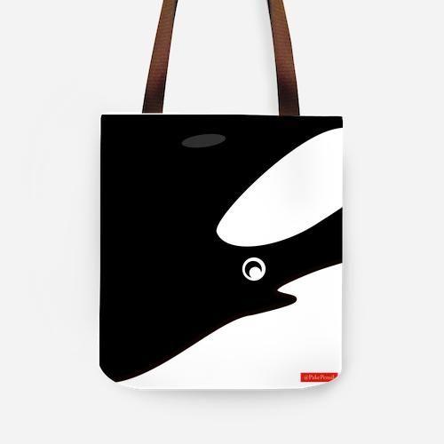 Orca / Killer Whale Tote Bag  Tas Paus Pembunuh