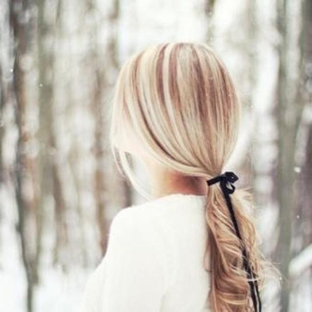 ponytail nice hair color