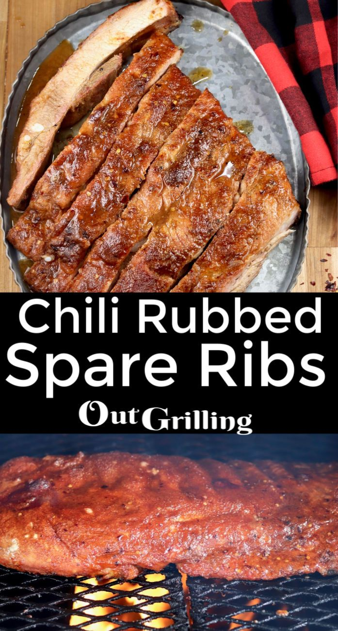 Jul 8, 2020 – Smoked ribs are always a crowd favorite and with this easy chili rub these spare ribs are over the top ama…