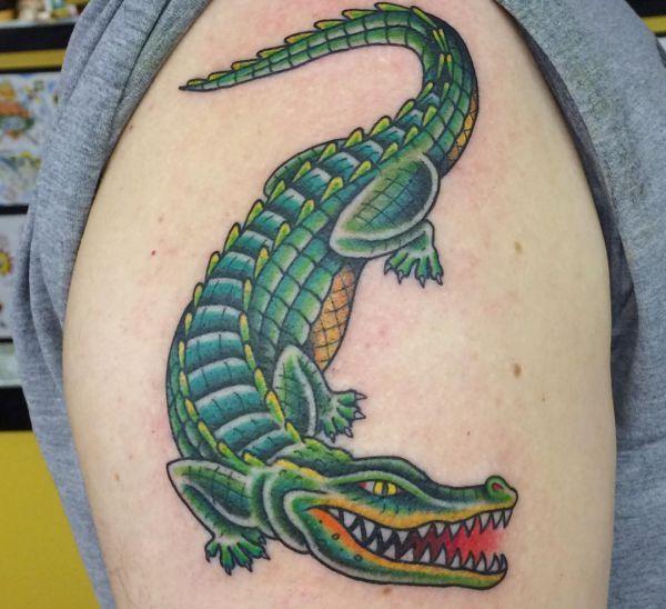 19 Krokodile Tattoo Designs Bilder Und Bedeutung Krokodil