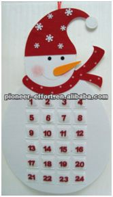 Felt Christmas advent calendar decoration