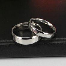 QIHE Jóias Anéis Para Os Amantes do Clássico de Titânio de Aço Anéis de Coquetel Dropship Contratada Chamfering Venda Quente Anéis de Presente alishoppbrasil