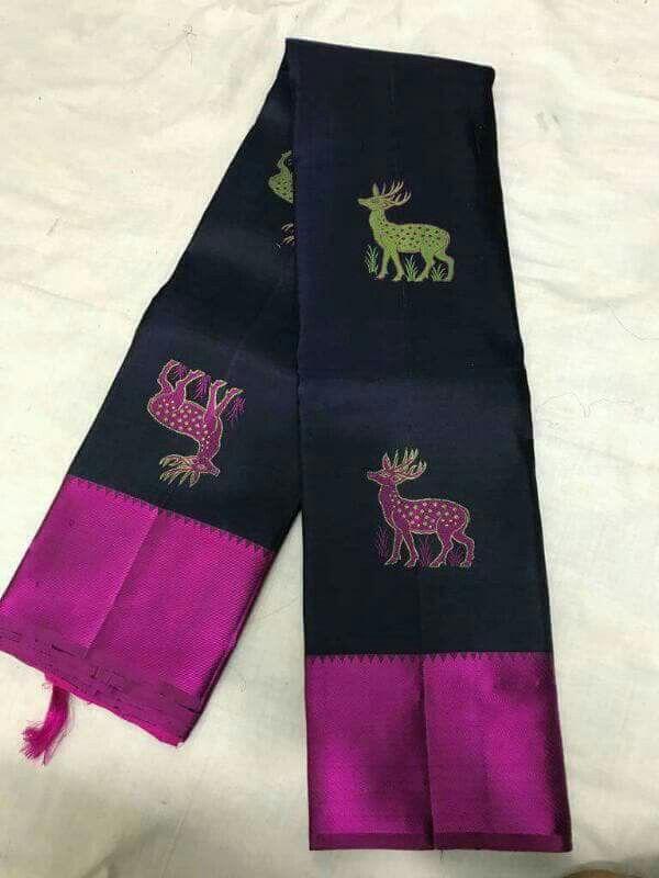 Pure handloom kanchi  Price :13600/- Order WhatsApp 7995736811