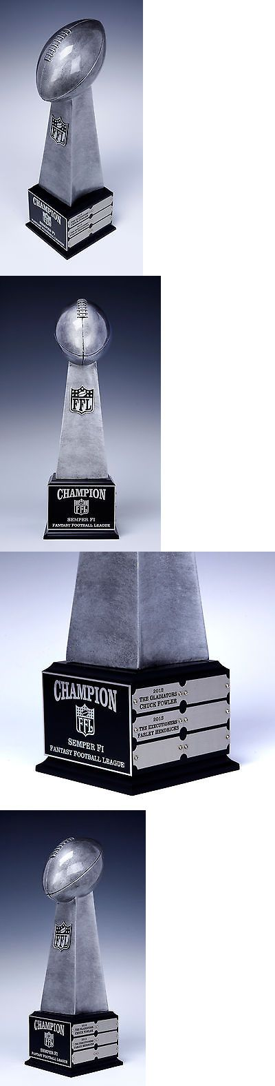 Other Football 2024: Fantasy Football Perpetual Trophy Lombardi 12Year Award 19 Tall Quick Ship BUY IT NOW ONLY: $66.9