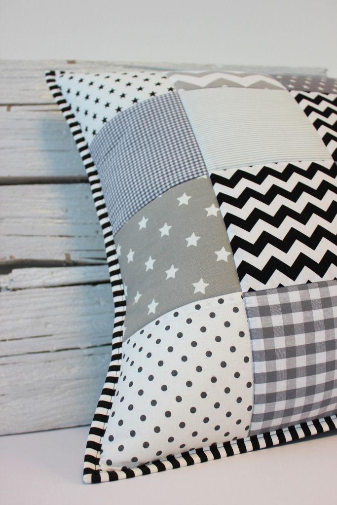 big patchwork pillow