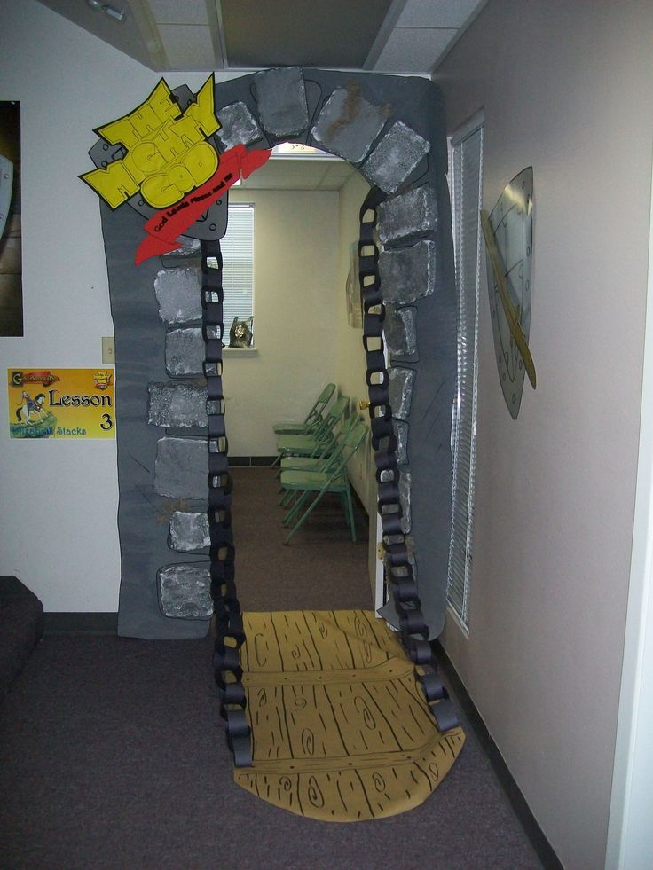 Drawbridge with paper chain- I was thinking you could also make it with duct tape.