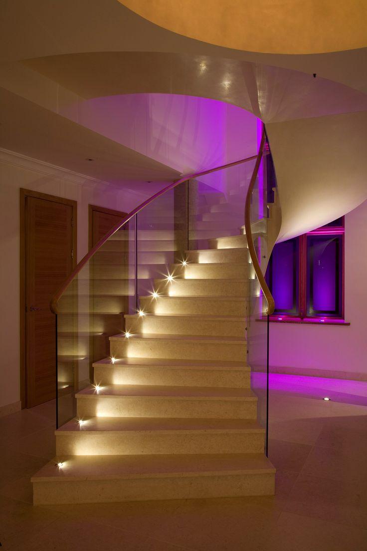 Elegant kreative led treppenbeleuchtung