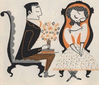 Mary Blair...would be so cute on a wedding invite!