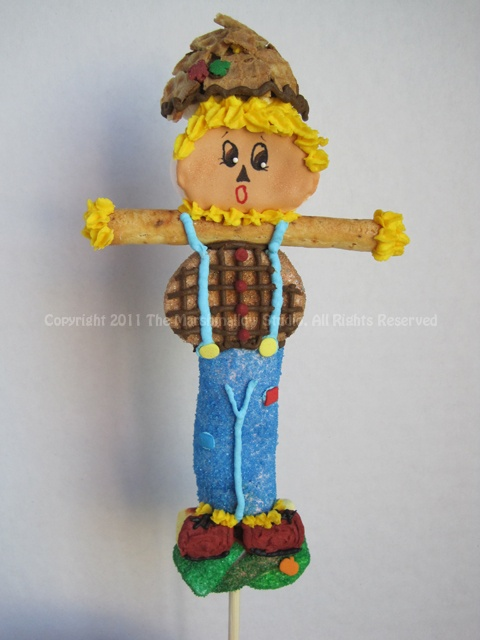 Sweet Scarecrow #marshmallow #pop #favors #halloween #thanksgiving #scarecrow