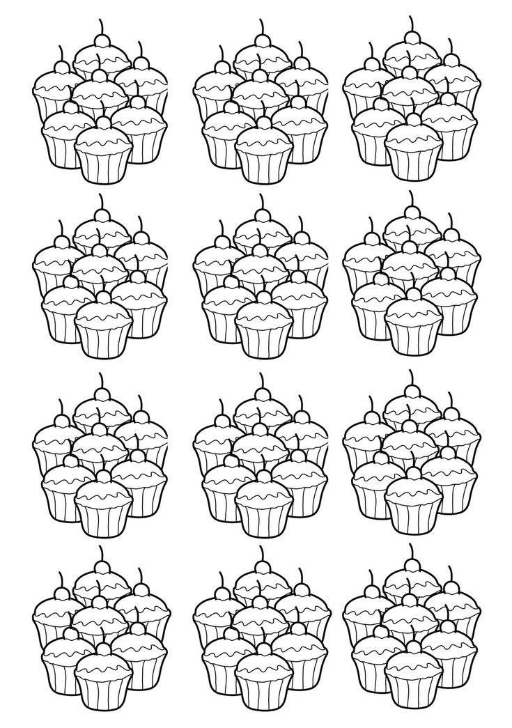 Free Coloring Page Adult Cupcakes Mosaique Mosaic Drawing Of A Group Quite Simple